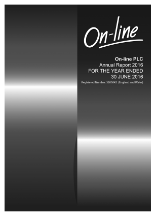 On-line Plc annual report 2016