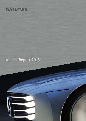 Daimler annual report 2015