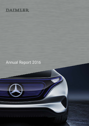 Daimler annual report 2016