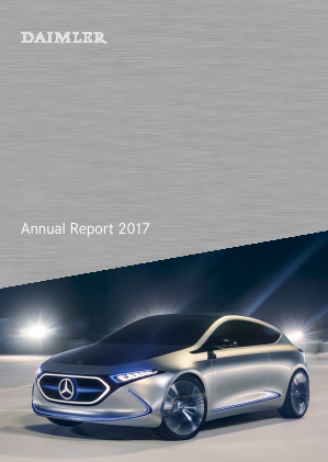Daimler annual report 2017