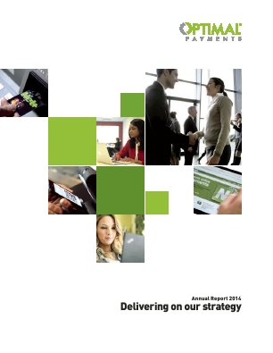 Optimal Payments Plc annual report 2014