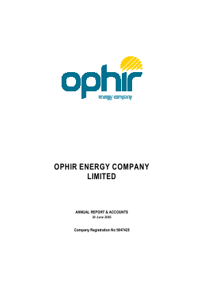 Ophir Energy Plc annual report 2005