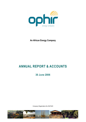 Ophir Energy Plc annual report 2006