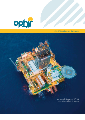 Ophir Energy Plc annual report 2010