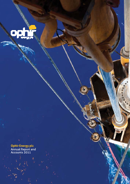Ophir Energy Plc annual report 2011