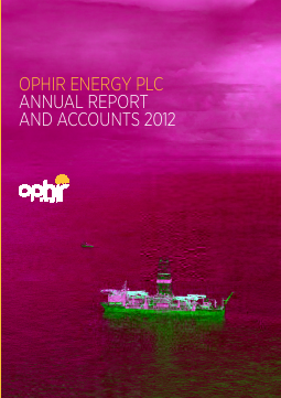 Ophir Energy Plc annual report 2012