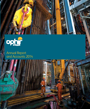 Ophir Energy Plc annual report 2014