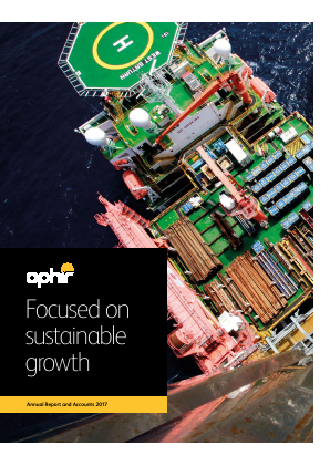 Ophir Energy Plc annual report 2017