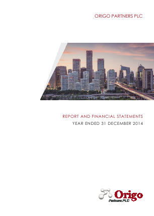 Origo Partners Plc annual report 2014