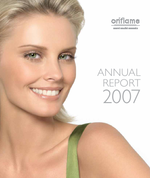 Oriflame Holding annual report 2007