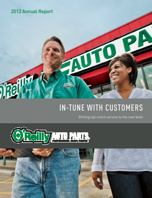 O'Reilly Automotive,  Inc. annual report 2012