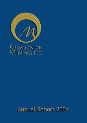 Ormonde Mining annual report 2004