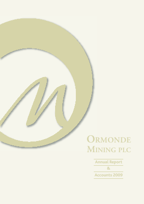 Ormonde Mining annual report 2009