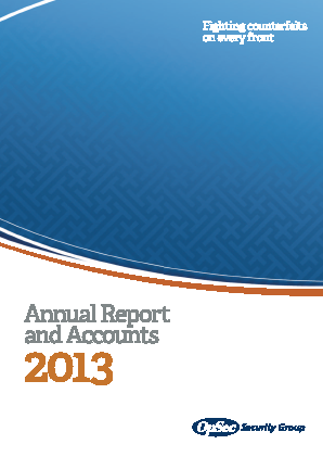 Opsec Security Group Plc annual report 2013