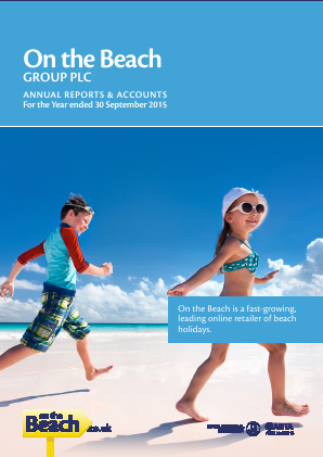 On The Beach Group Plc annual report 2015