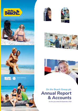 On The Beach Group Plc annual report 2018