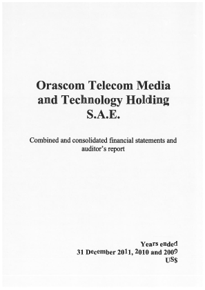 Orascom Telecom Media and Technology Holding annual report 2012