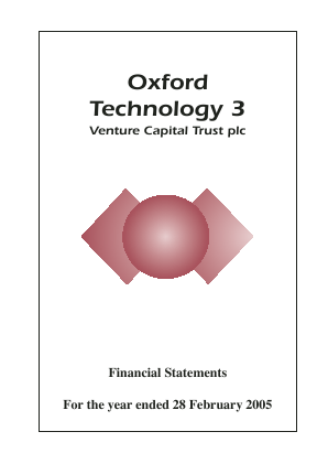Oxford Technology 3 VCT Plc annual report 2005