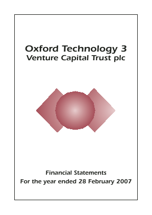 Oxford Technology 3 VCT Plc annual report 2007