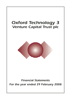 Oxford Technology 3 VCT Plc annual report 2008