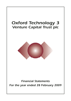 Oxford Technology 3 VCT Plc annual report 2009
