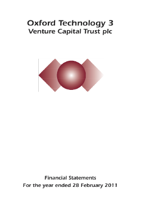 Oxford Technology 3 VCT Plc annual report 2011