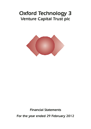 Oxford Technology 3 VCT Plc annual report 2012