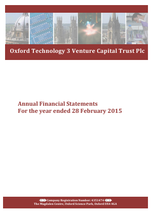Oxford Technology 3 VCT Plc annual report 2015
