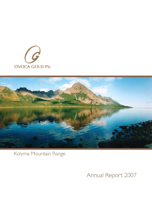 Ovoca Gold annual report 2007