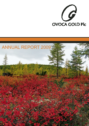 Ovoca Gold annual report 2009