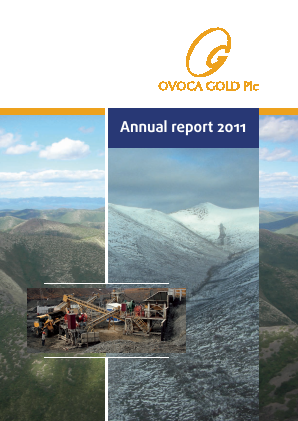 Ovoca Gold annual report 2011