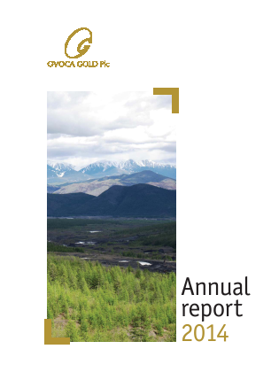 Ovoca Gold annual report 2014