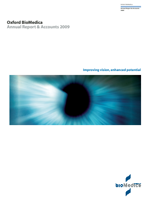 Oxford Biomedica Plc annual report 2009