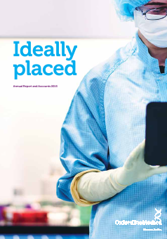 Oxford Biomedica Plc annual report 2015