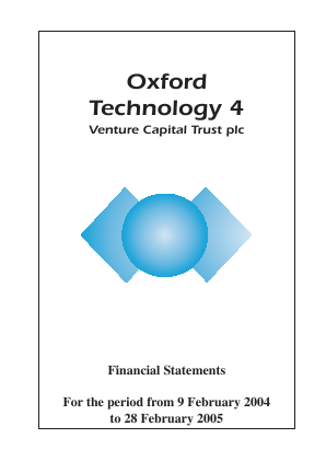 Oxford Technology 4 VCT Plc annual report 2005
