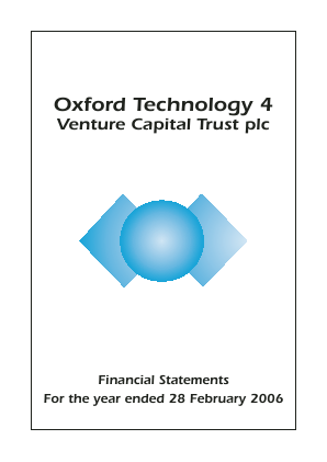 Oxford Technology 4 VCT Plc annual report 2006