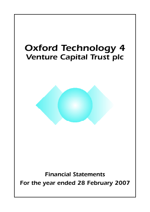 Oxford Technology 4 VCT Plc annual report 2007