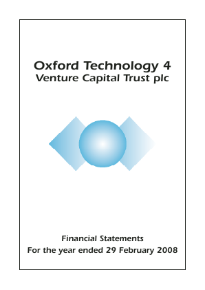 Oxford Technology 4 VCT Plc annual report 2008