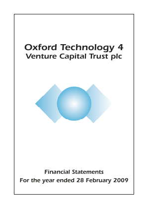 Oxford Technology 4 VCT Plc annual report 2009