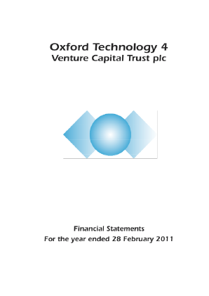 Oxford Technology 4 VCT Plc annual report 2011