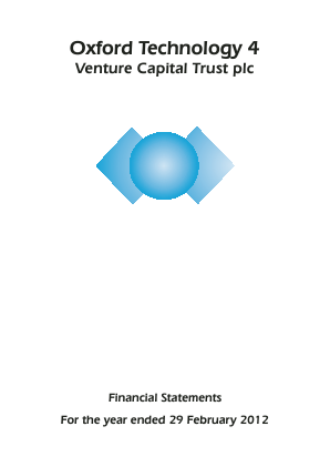 Oxford Technology 4 VCT Plc annual report 2012