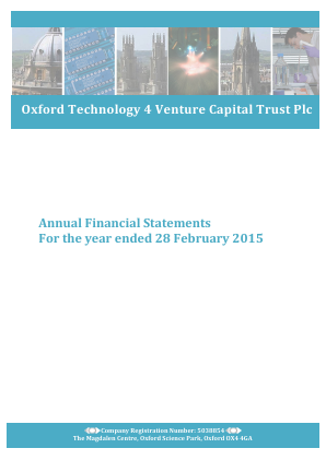 Oxford Technology 4 VCT Plc annual report 2015