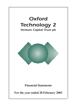 Oxford Technology 2 VCT annual report 2003