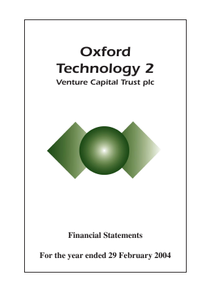 Oxford Technology 2 VCT annual report 2004