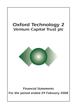 Oxford Technology 2 VCT annual report 2008
