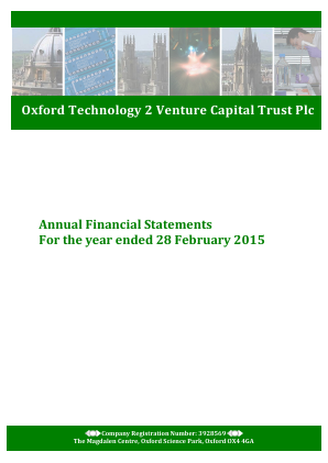 Oxford Technology 2 VCT annual report 2015
