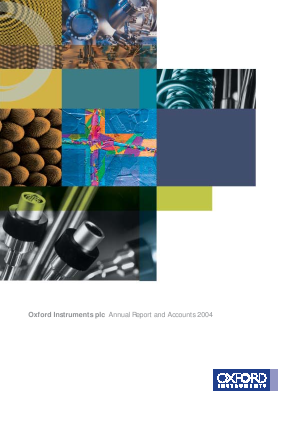 Oxford Instruments annual report 2004