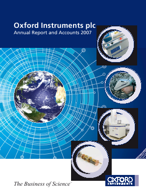 Oxford Instruments annual report 2007