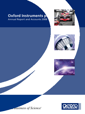 Oxford Instruments annual report 2008
