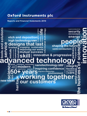 Oxford Instruments annual report 2010